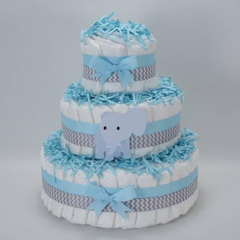 Diaper cake tinker blue