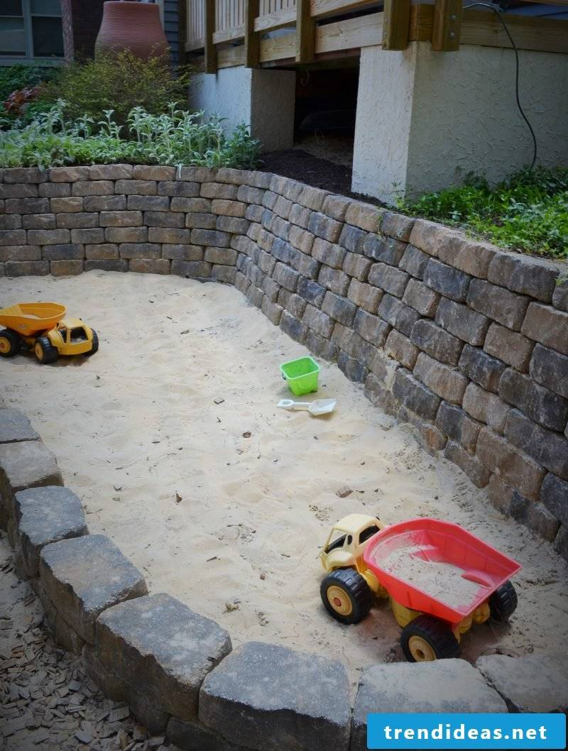 Sandbox build DIY stones