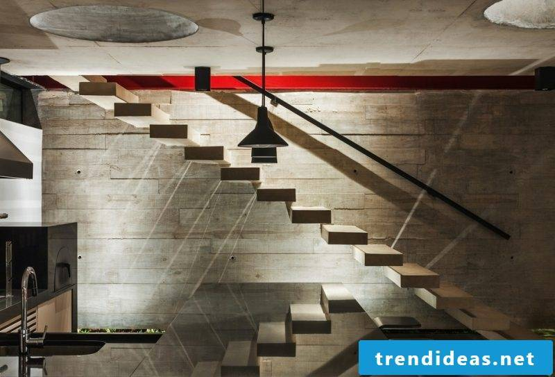 Concrete staircase industrial look