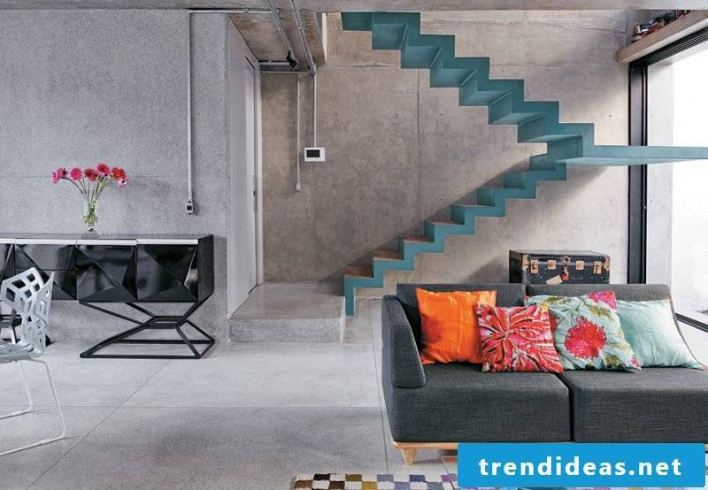 Paint the concrete staircase in color
