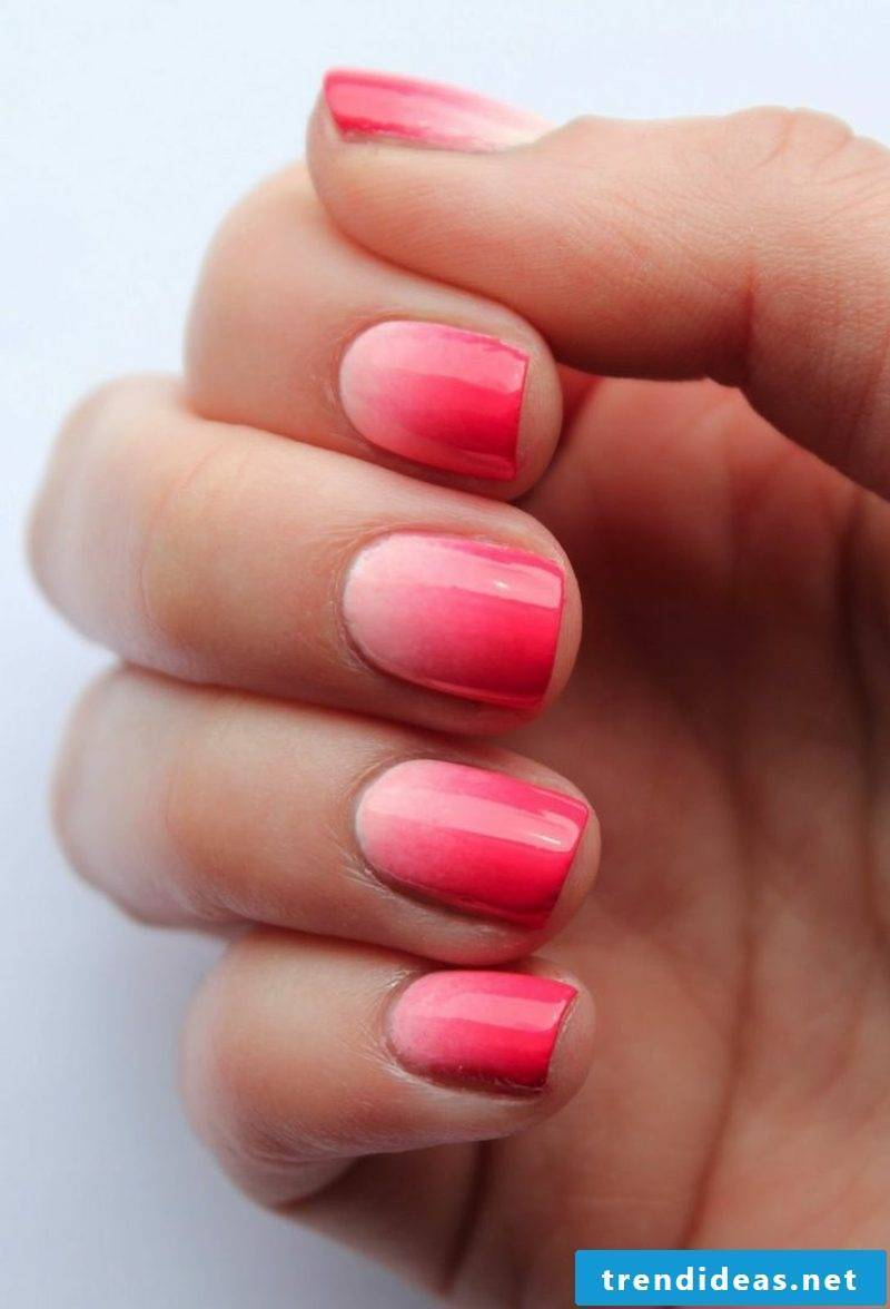 DIY Ideas Ombre Fingernails