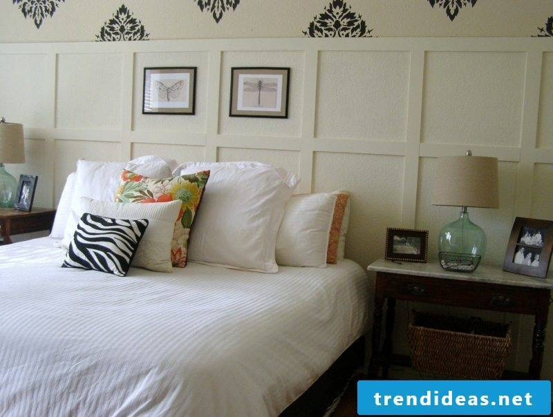Bed without headboard decoration