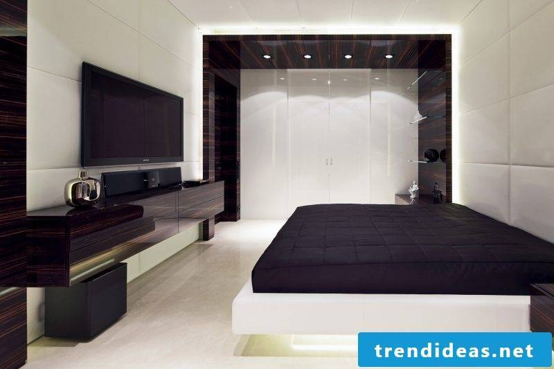 Bed without headboard modern design