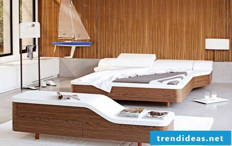 Bed without headboard idea modern bedroom design