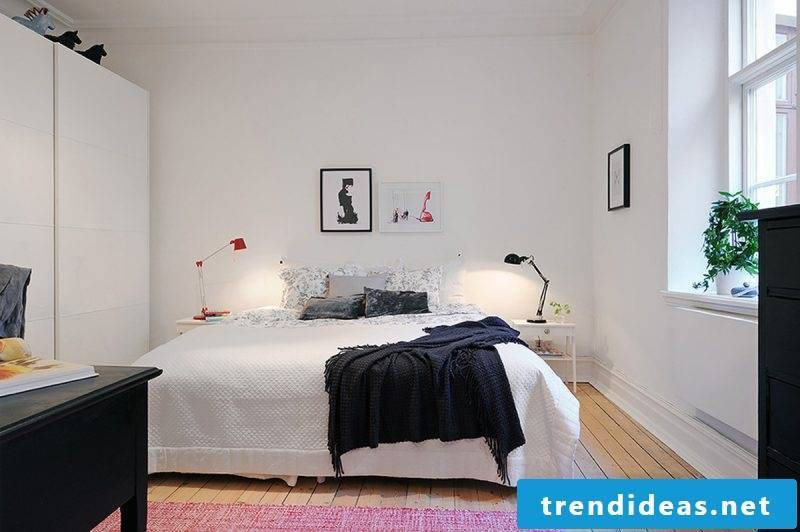 Bed without headboard design idea