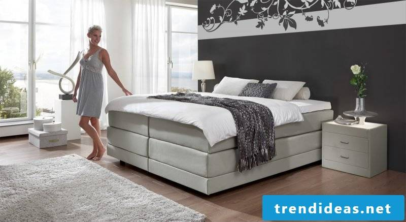 Bed without headboard box spring beds