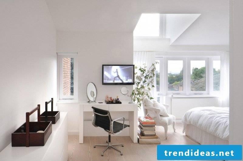 modern bedroom design home decor white wall design bright colors