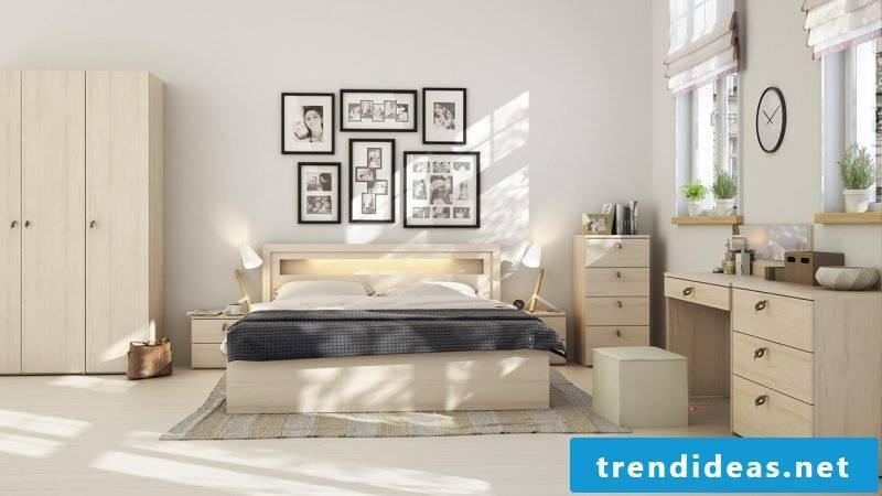 bedroom design furnishing ideas scandinavian style beige colors wabdgestaltung