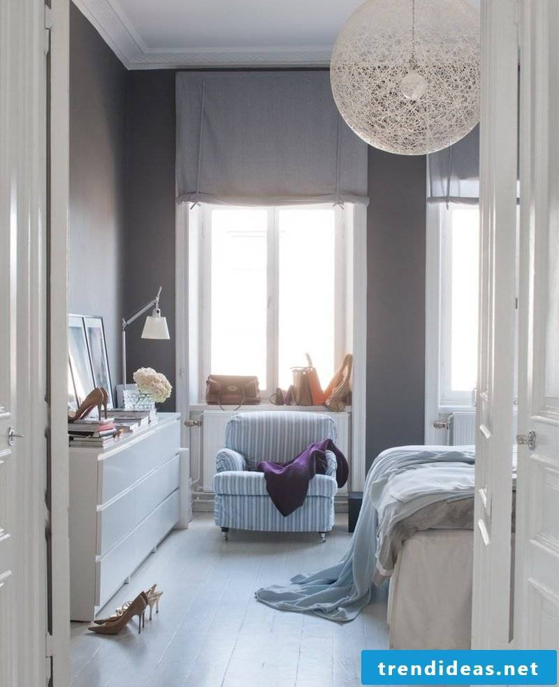 bedroom fashion scandinavian style colors blue lamp