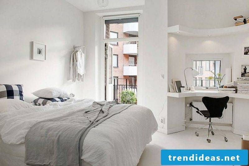 bedroom design ideas scandinavian style white colors light