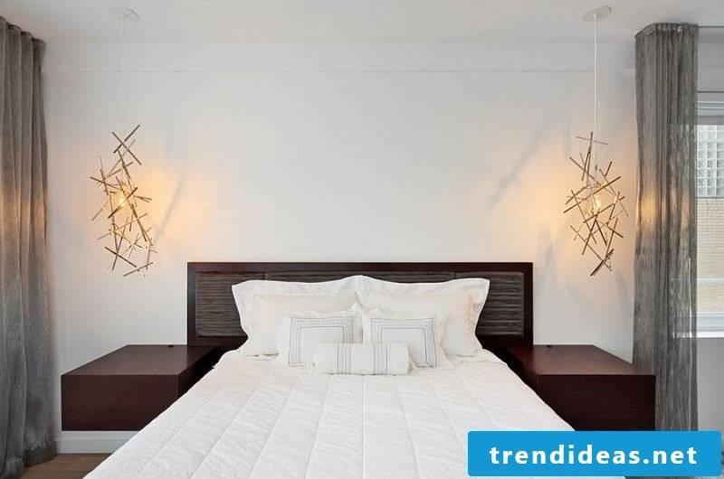 bedroom decorating ideas luxury scandinavian style bed light sources