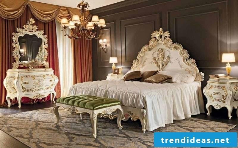 Bedroom furnishings splendor in Baroque style