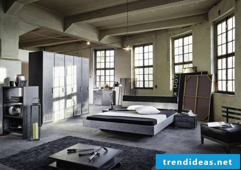 Bedroom set up industrially modern ideas