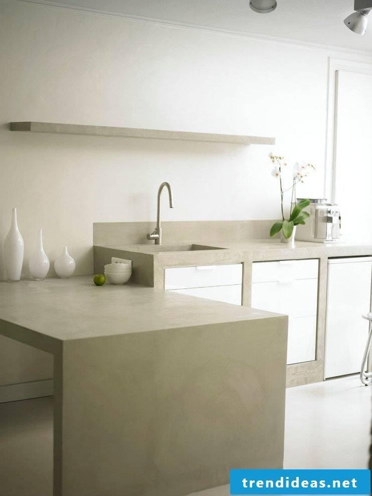 Concrete Cire Countertop