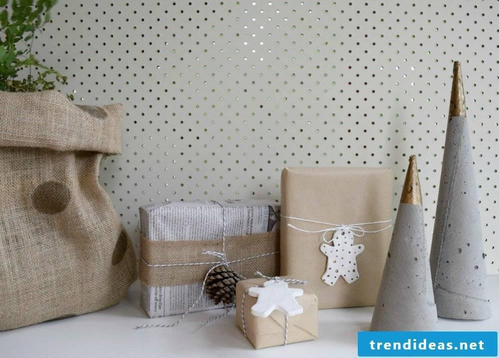 Beton Deko Christmas Decorations Made Of Concrete 34 Diy Instructions