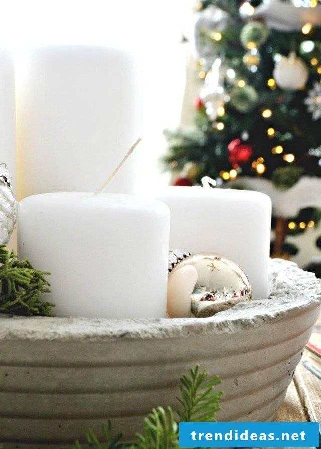 Christmas decoration concrete decoration