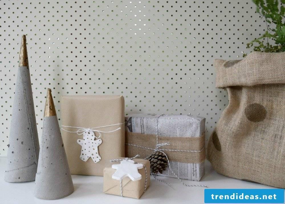 Concrete decoration Christmas decoration