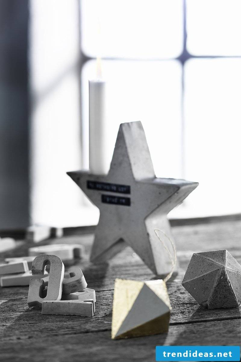 Christmas star tinker - concrete decoration