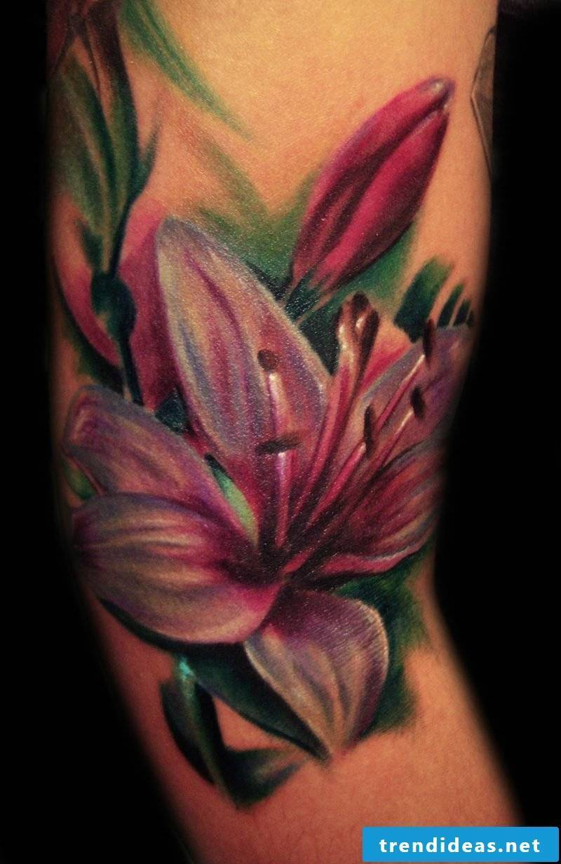 Tattoo lily colored ideas and inspirations