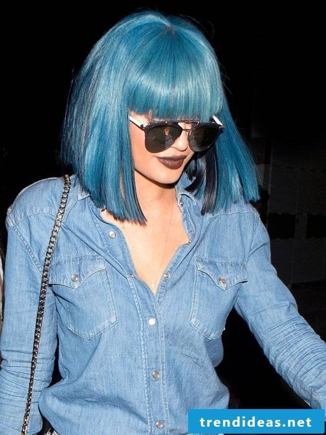 blue hair hair dyed blue trend hair color kylie jenner hair
