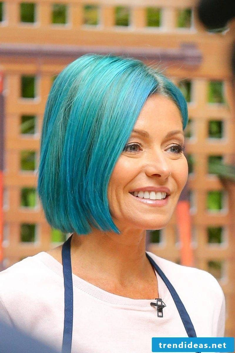 blue hair hairstyles blue trend hair color celebrities