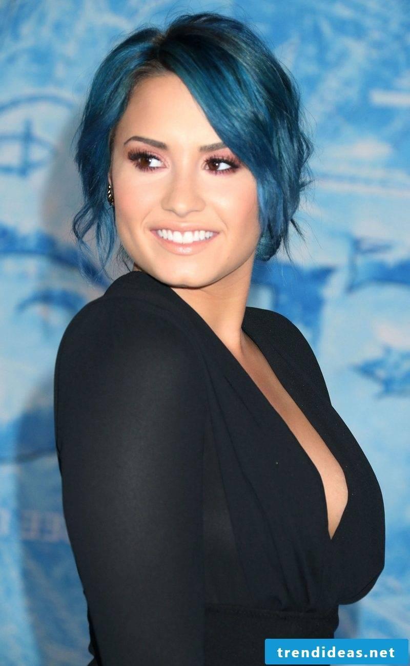 blue hair hair color blue trend hair color demi lovato