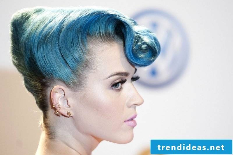 blue hair hairstyles blue trend hair color stars katy perry