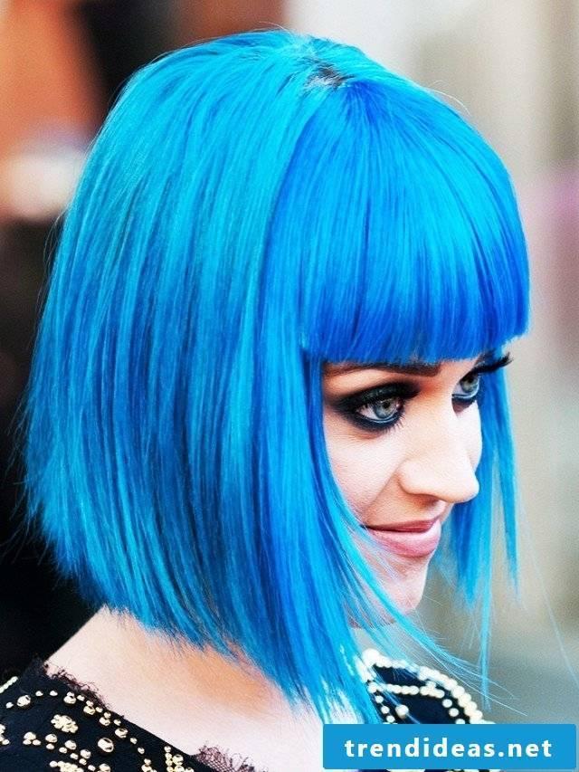 blue hair hair dyed blue trend hair color katy perry