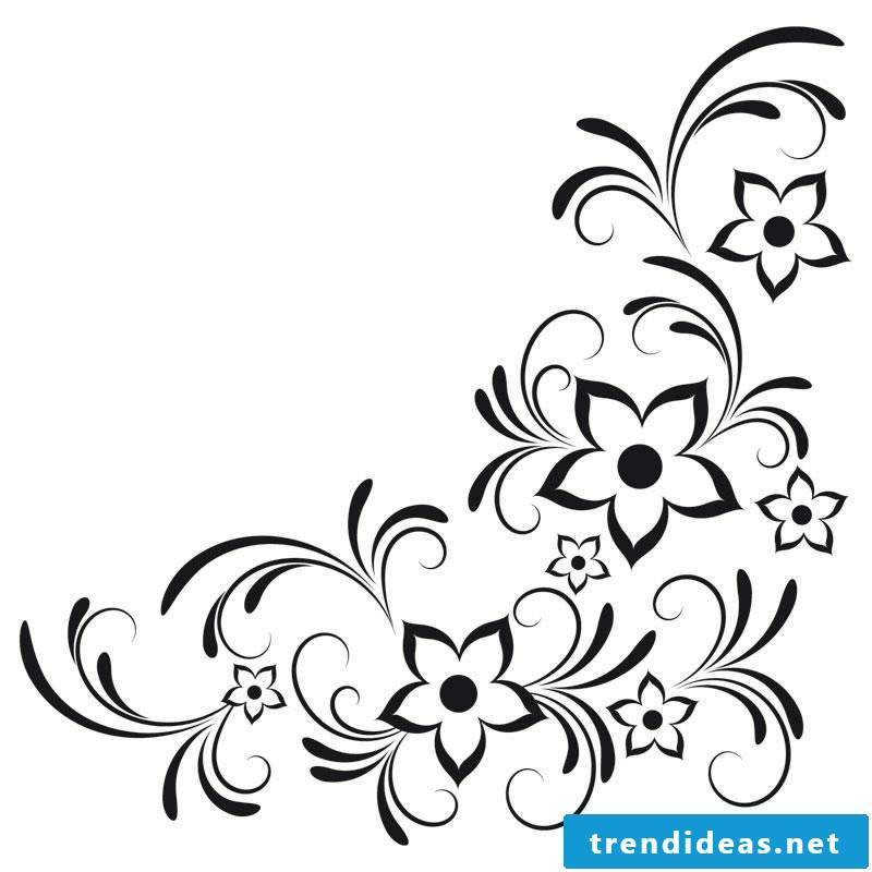 interesting template Floral tendril tattoo stylized