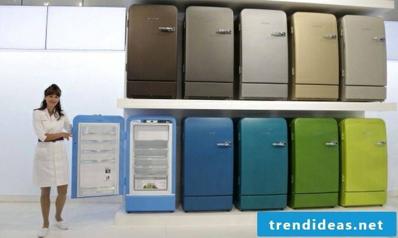 Bosch retro fridge fascinating color scheme