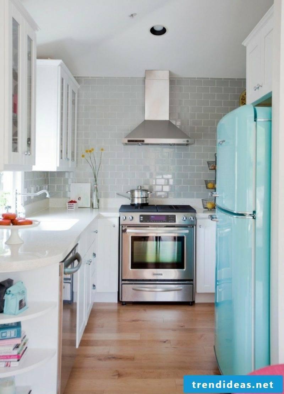 original Bosch retro fridge in light blue