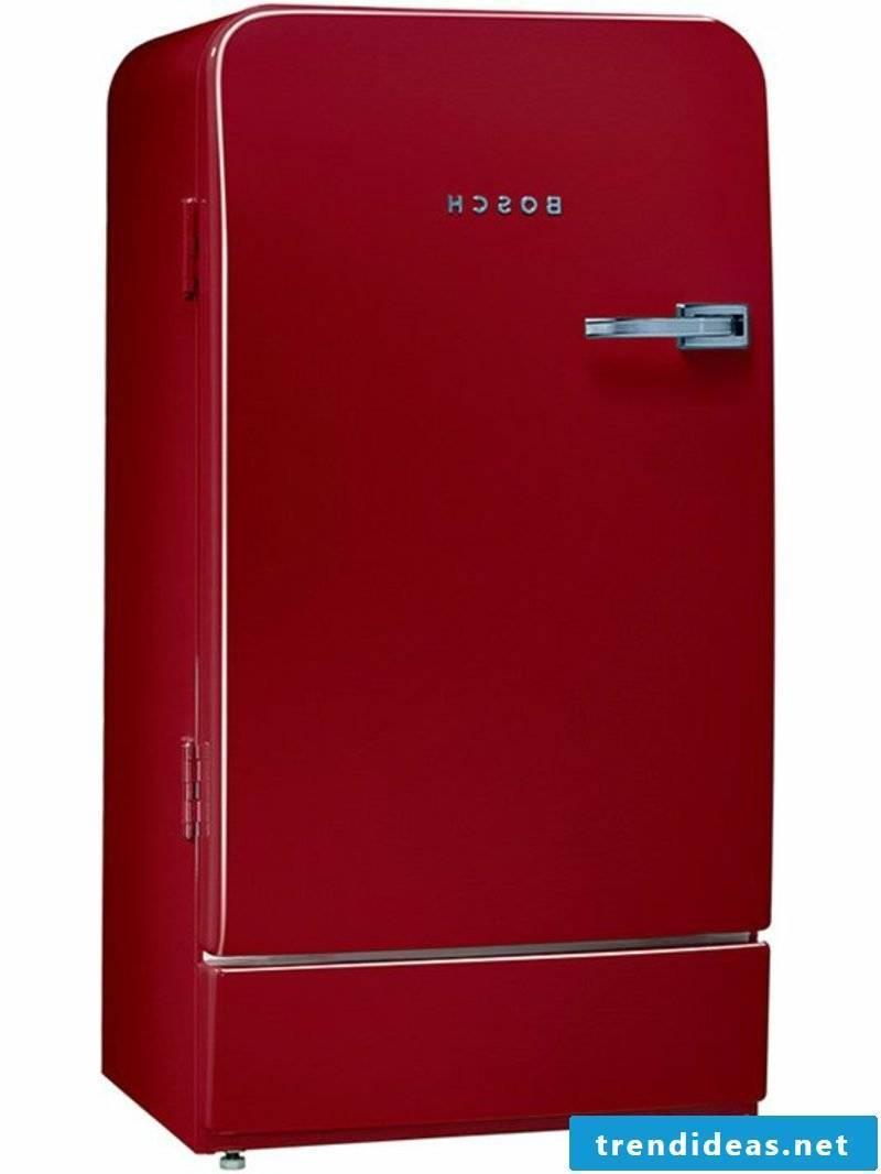 Bosch retro fridge colorful design burgundy