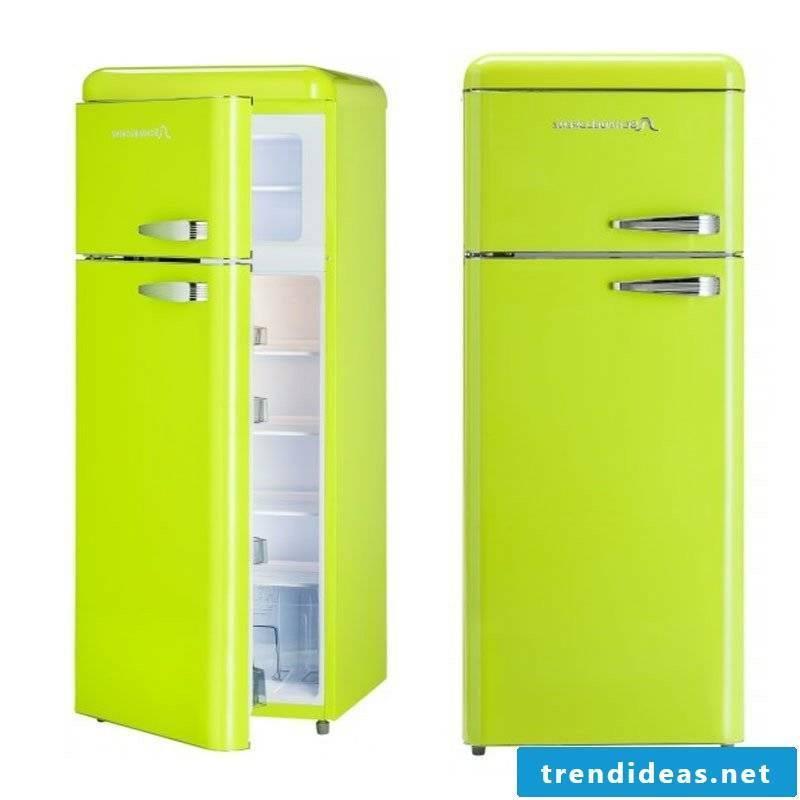big retro fridge in light green