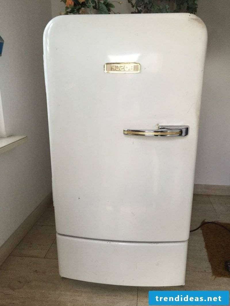 Retro refrigerator Bosch white classic look