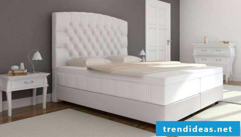 Boxspring beds in leather - sleep like a king