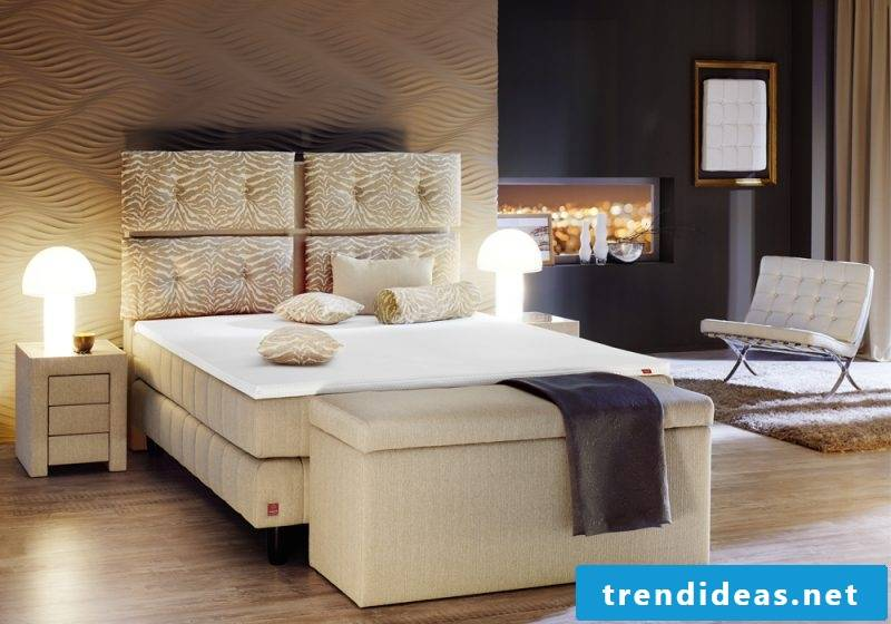 Boxspring beds as luxury beds