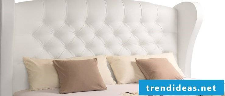 Create a modern atmosphere with box spring beds in leather