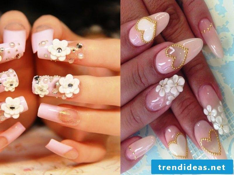 Fingernail Design 3D Flowers