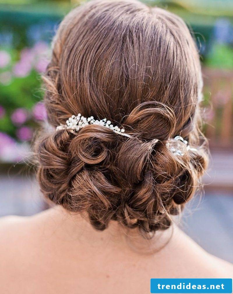 Wedding Hairstyle Bridesmaid Elegant Updo with Hair Accessories