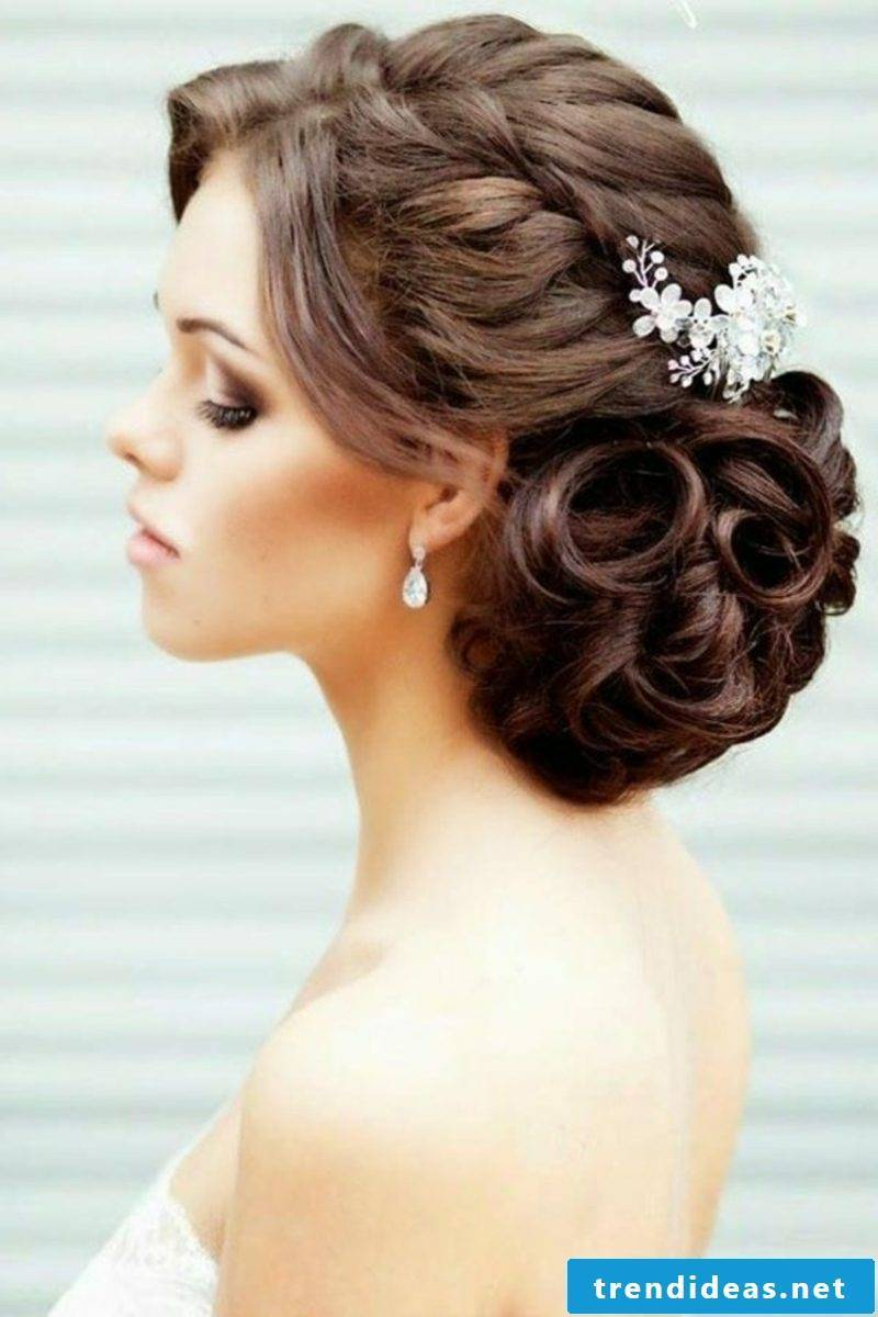 Bridesmaid Hairstyles Wedding Elegant Updo with Hair Accessories