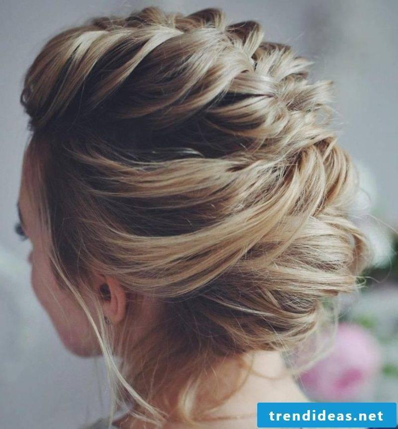 Wedding hairstyles bridesmaids elegant braiding hairstyle