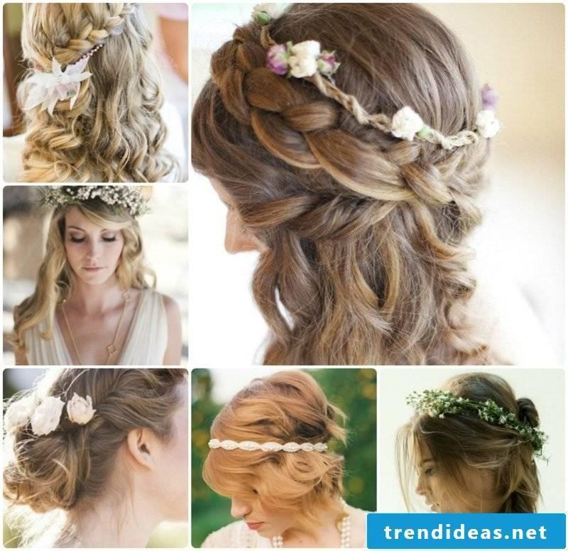 Wedding Hairstyles Bridesmaids Elegant Braids Curly Hair