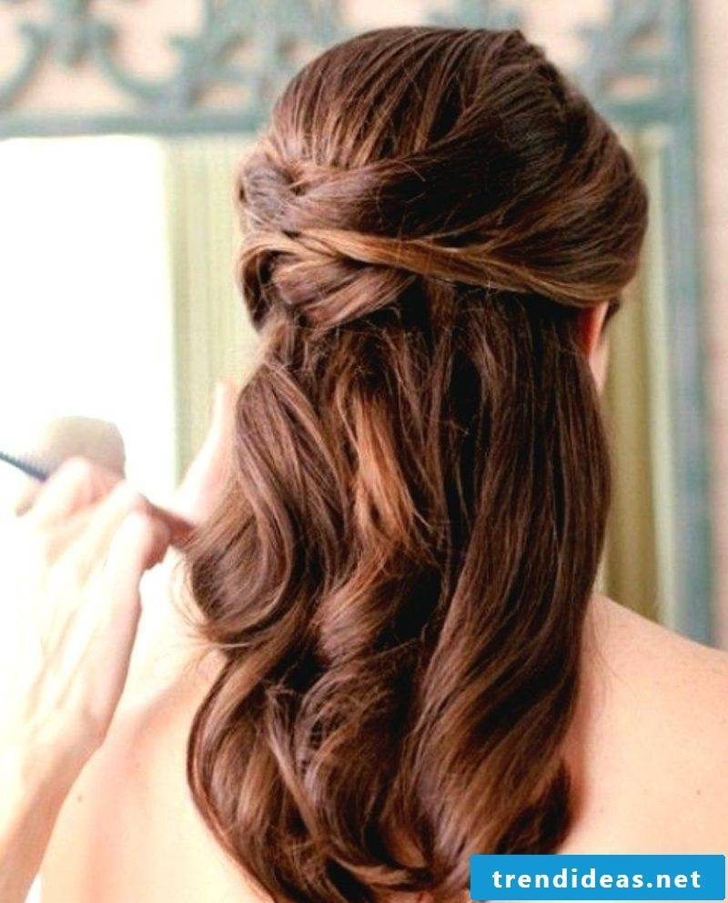 Wedding Hairstyles Bridesmaids Wavy Hair