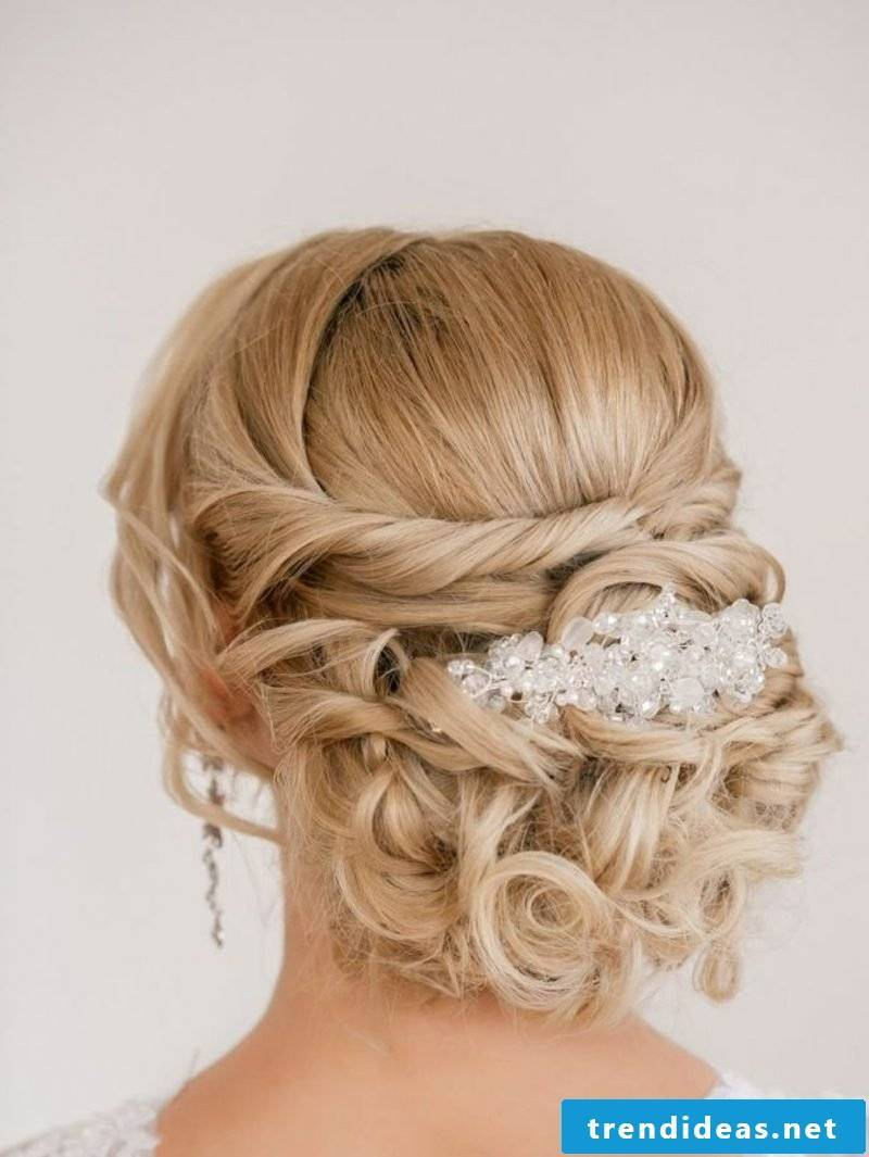 Bridesmaid hairstyles updo curls hair jewelry gorgeous look