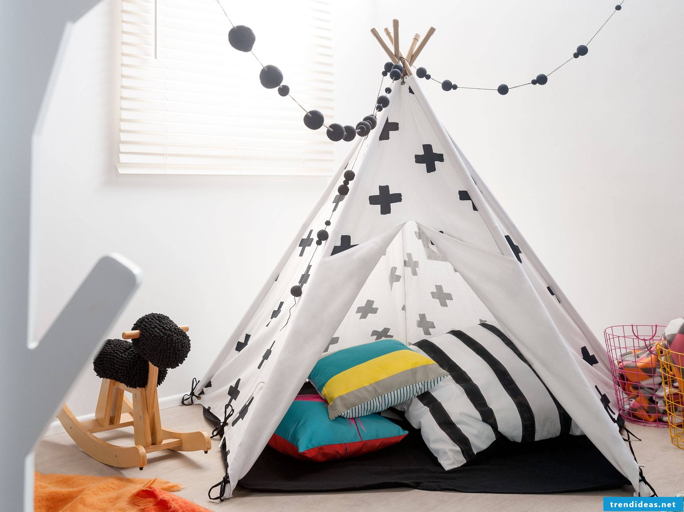 The best playground is a teepee tent - sew one yourself with our sewing ideas for beginners