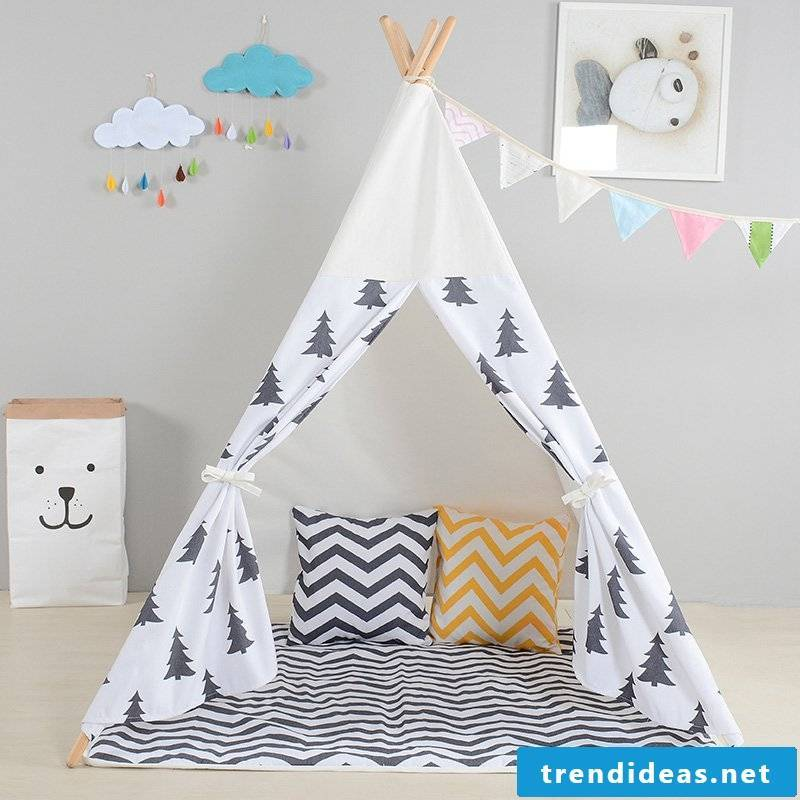Simple sewing ideas for beginners - teepee tent for the little one