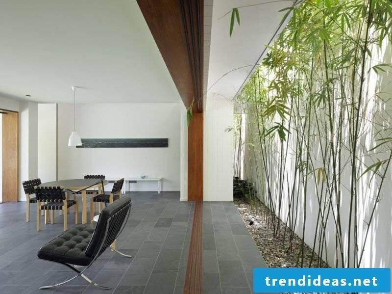 Palm tree bamboo wall