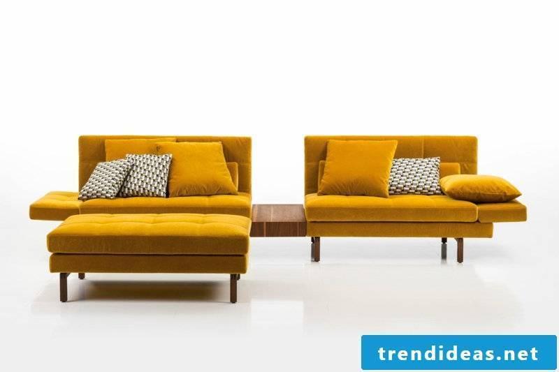 brühl sofas-model-amber-yellow