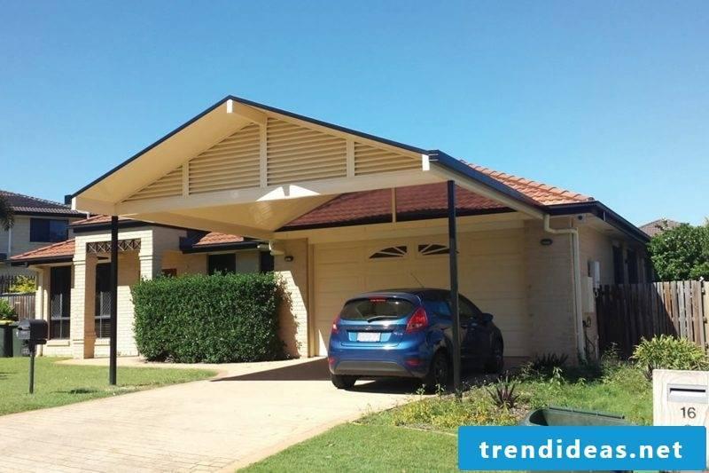Carport itself build wooden roof
