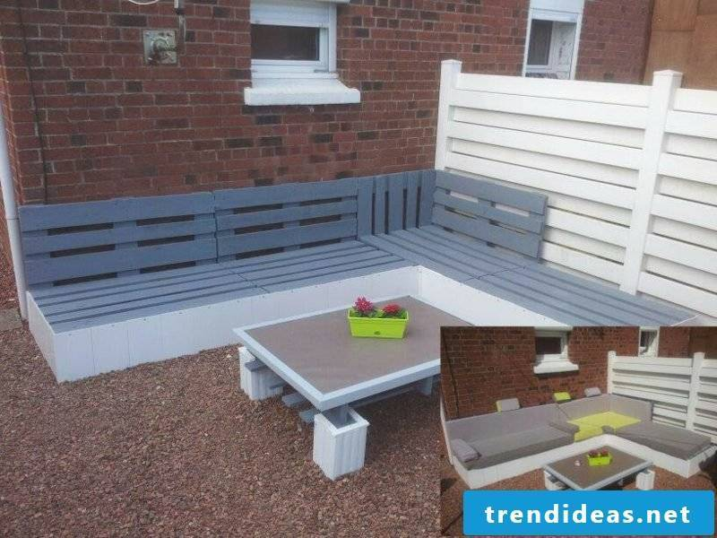 Corner bench outdoor creative design ideas